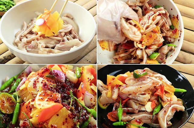 Gỏi tai heo Thái Lan vị chua chua cay cay