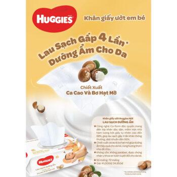 Khăn ướt Huggies Cacao và Bơ hạt mỡ