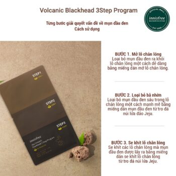 Mặt nạ 3 bước lột mụn đầu đen Innisfree Jeju Volcanic Blackhead 3Step Program