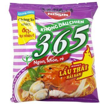 Mì gói không chiên Nissin 365 – Hương Vị Lẩu Thái Hải Sản