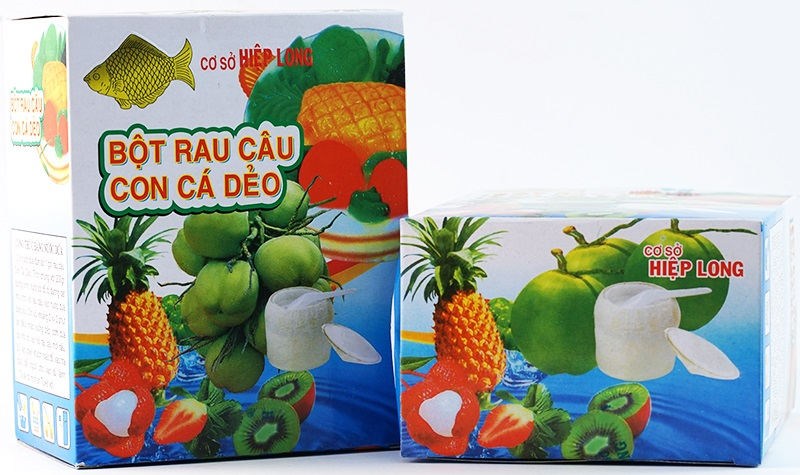 Một số loại bột rau câu được sử dụng phổ biến trên thị trường