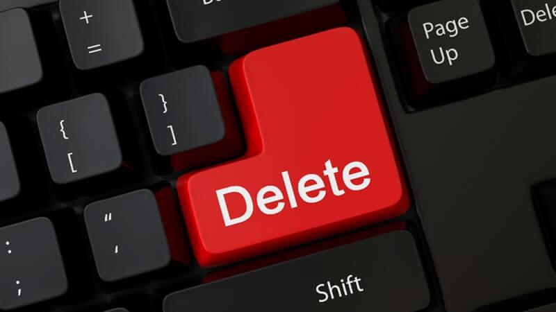 Nhiều file không thể xóa bằng cách thông thường