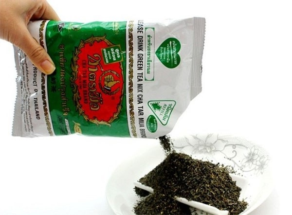 Pha trà sữa Thái xanh