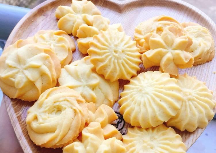 Thành phẩm bánh quy bơ thơm ngon giòn tan