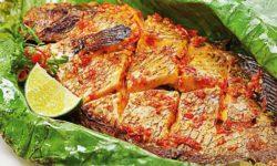 Thành phẩm cá nướng bằng lò vi sóng