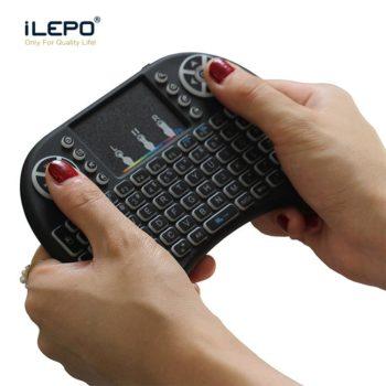 Bàn phím mini wireless kiêm chuột i8 Pin Lithium
