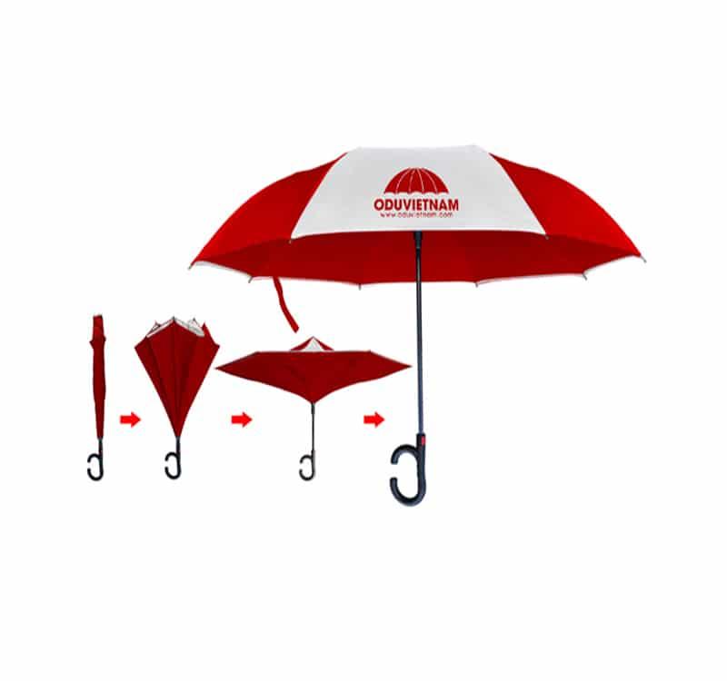 Ô dù đi mưa cầm tay gấp 3