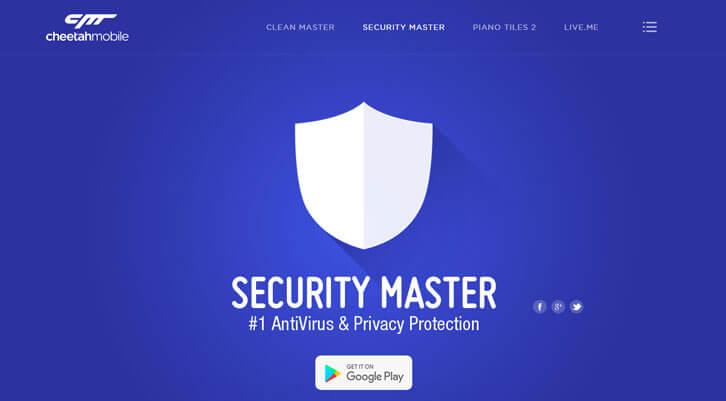 Security Master - Phần mềm diệt virus cho điện thoại Samsung