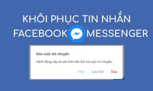 Cách khôi phục tin nhắn trên Facebook