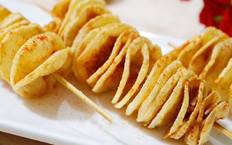 Cách làm khoai tây lốc xoáy giòn thơm ngon