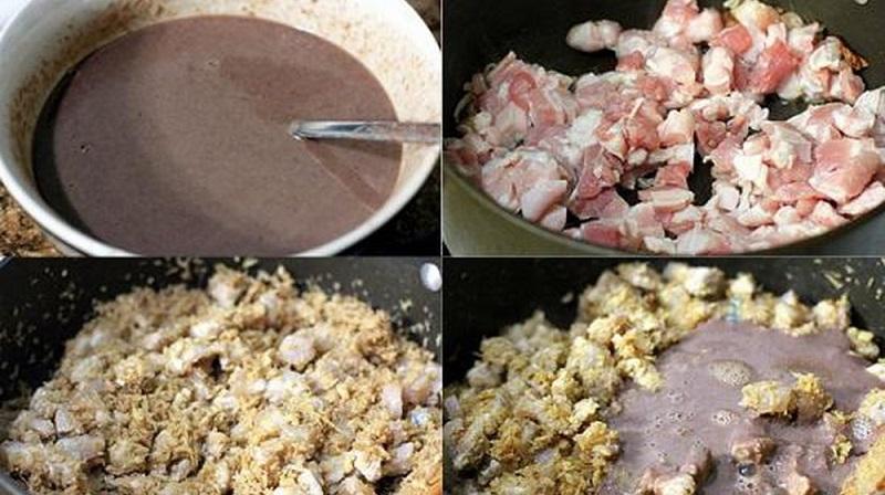 Cách làm thịt xào mắm ruốc tương đối đơn giản