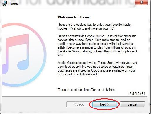 Cài đặt iTunes rất đơn giản
