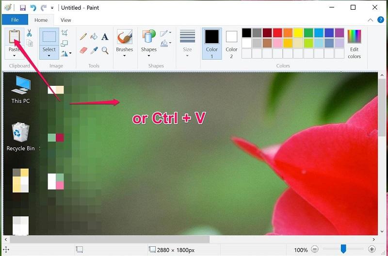 Chụp màn hình thêm văn bản với Paint