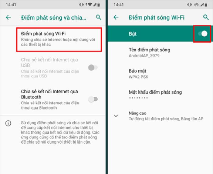 Dễ dàng bật chia sẻ Wifi từ các thiết bị Android