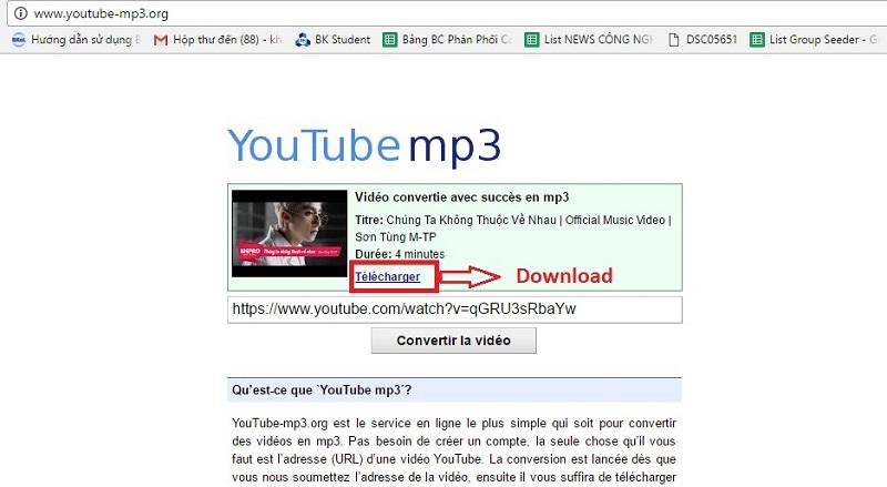 Download nhạc MP3 từ YouTube với YouTube mp3