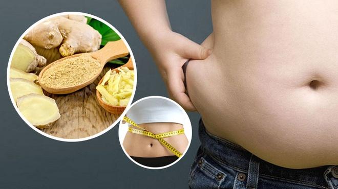 Gừng tươi giảm mỡ bụng hiệu quả