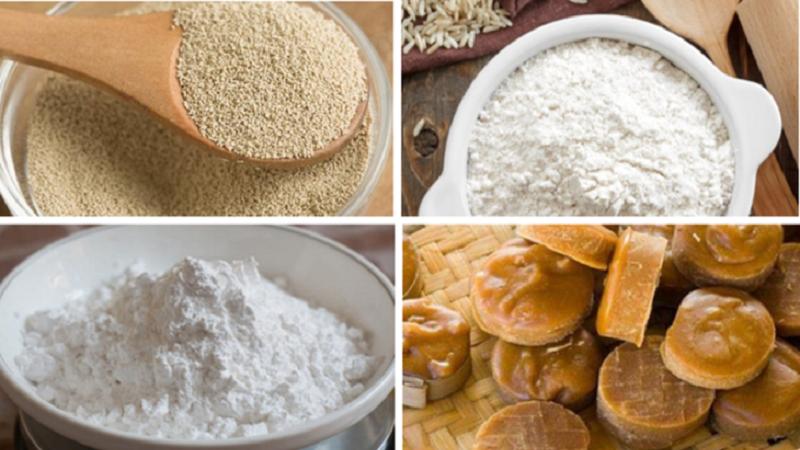 Nguyên liệu cách làm bánh bò thốt nốt