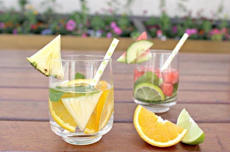 Nước giảm mỡ bụng hiệu quả bằng nước detox cam và dứa