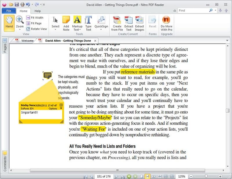 Phần mềm hỗ trợ đọc file PDF Nitro PDF Reader