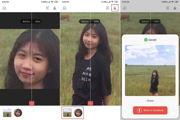 Remini là phần mềm làm nét ảnh chuyên nghiệp