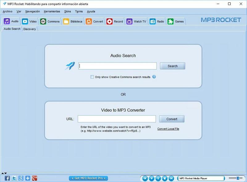 Sử dụng phần mềm MP3 Rocket