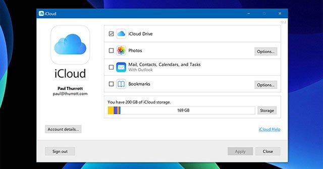 Tải iCloud về Windows và đồng bộ hóa thư mục