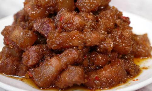Cách làm thịt xào mắm ruốc thơm ngon