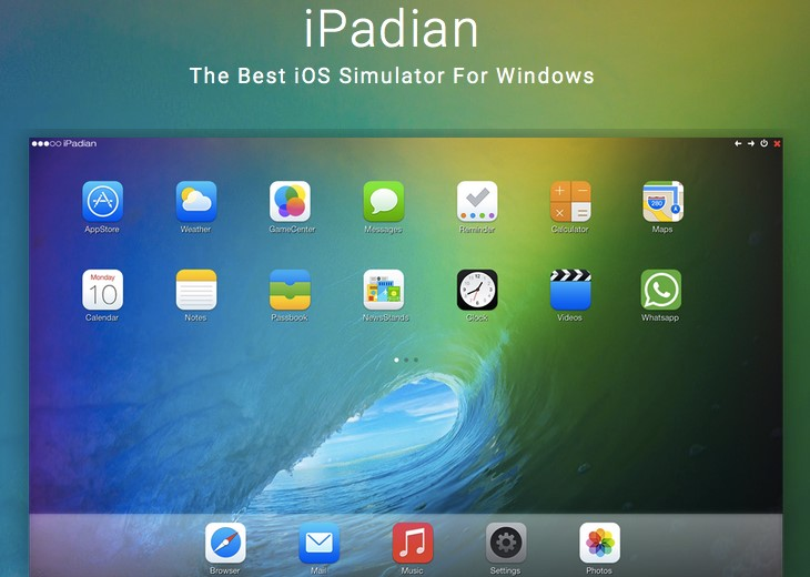 Top 5 phần mềm giả lập iOS - iPadian iPhone Emulator