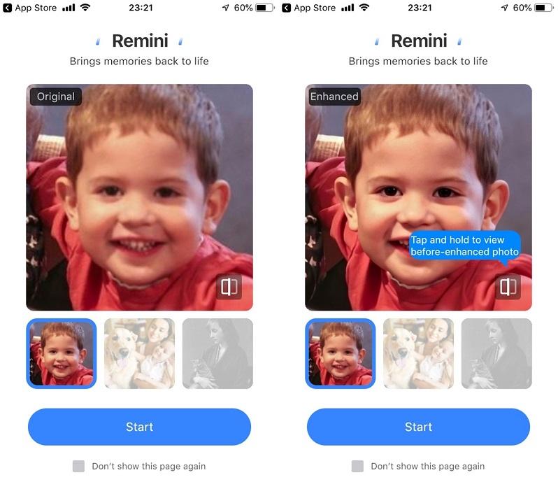 Ứng dụng Remini giúp tăng chi tiết ảnh