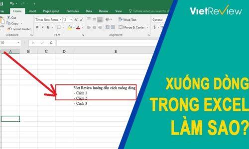 3 cách xuống dòng trong Excel đơn giản nhất
