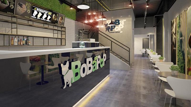Bobapop luôn có không gian được thiết kế trang nhã và hiện đại