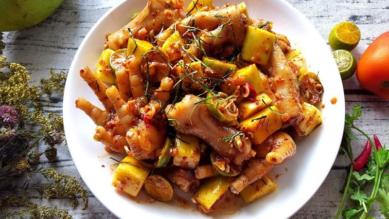 Cách làm chân gà xốt thái thơm ngon đúng chuẩn vị Thái
