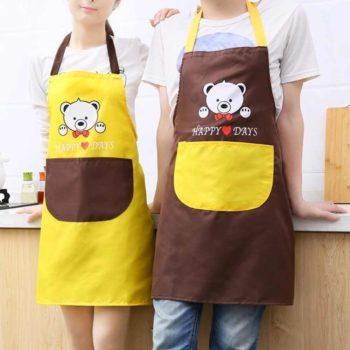 Tạp dề nấu bếp hình gấu dễ thương HAPPY DAYS