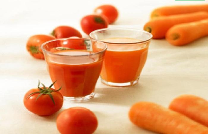 Kết hợp cà chua với cà rốt sẽ tạo nên một hỗn hợp giảm cân và làm đẹp dáng