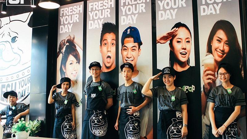 Thái độ của nhân viên phục vụ là điểm công cho thương hiệu Bobapop