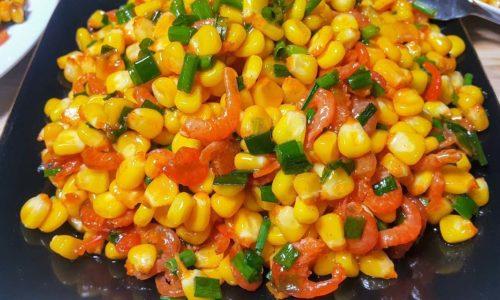 Cách làm bắp xào tôm khô thơm ngon tròn vị