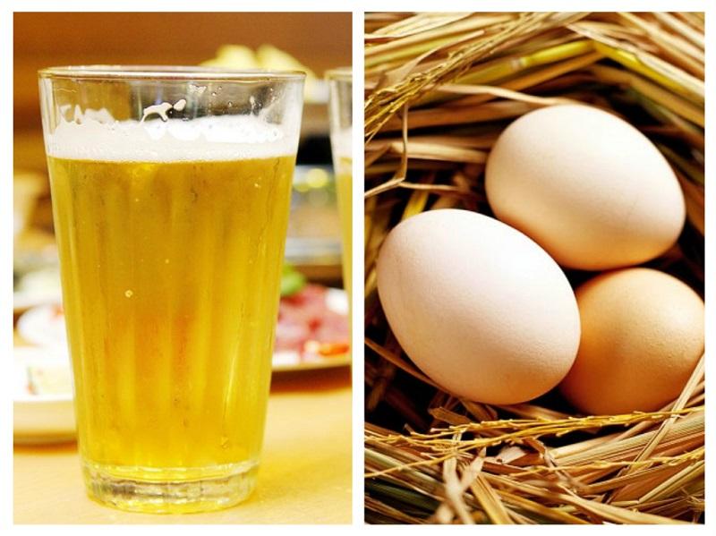 Cách làm trắng da tay, chân từ bia, trứng gà và mật ong