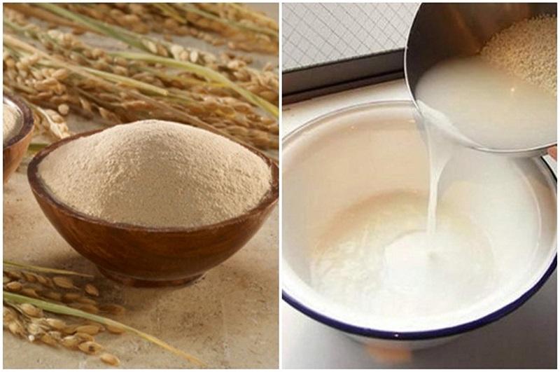 Cách làm trắng da tay với nước vo gạo và bột mì