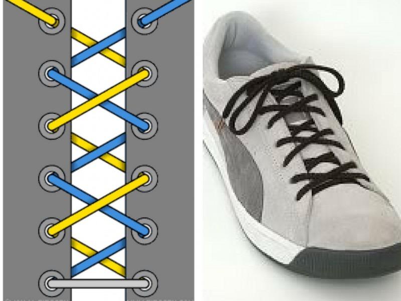 Cách thắt nút dây giày cơ bản