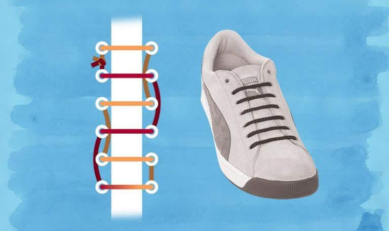 Cách thắt nút dây giày giấu dây