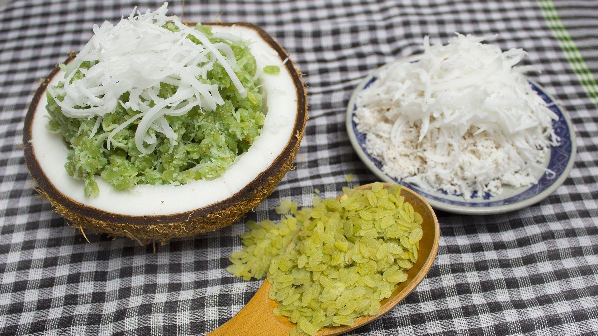 Cách làm cốm dẹp lá dứa trộn dừa thơm dẻo tại nhà bảo quản được gần 1 tuần - 6