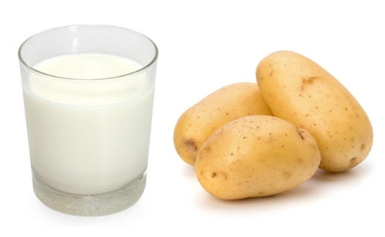 Công thức khoai tây sữa tươi giúp kích thích trắng da bất ngờ
