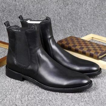 Giày Chelsea Boots Cổ Lửng Da Trơn Bóng BT28