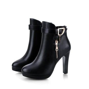 Giày boot nữ phong cách Hàn Quốc B071