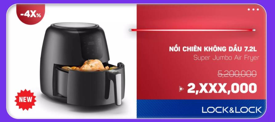 Nồi chiên không dầu 7.2l Super Jumbo Air Fryer