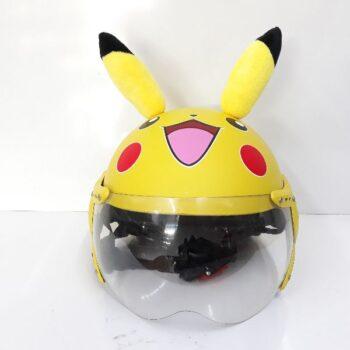 Mũ bảo hiểm trẻ em có kính chống bụi Pikachu