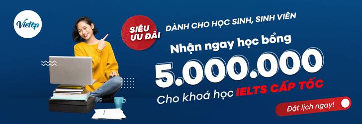 Nhận ngày học bổng 5.000.000 từ Vietop
