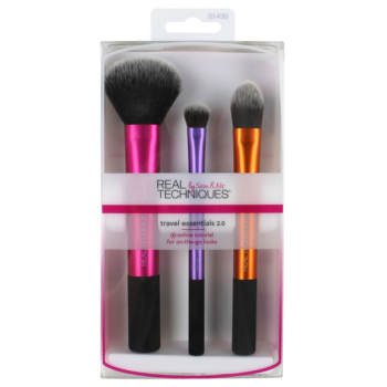 Bộ Cọ Trang Điểm 3 Cây Real Techniques Travel Essentials Makeup Brush Set