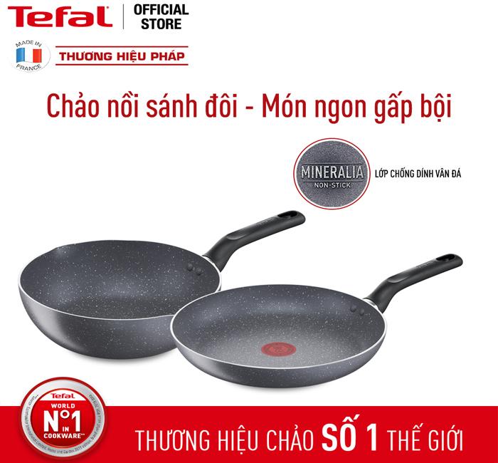 Combo chảo chiên sâu lòng của thương hiệu Tefal
