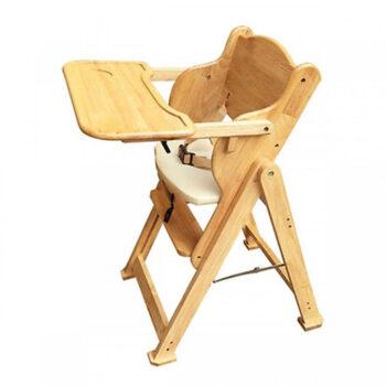 Ghế ăn dặm cho bé bằng gỗ 001